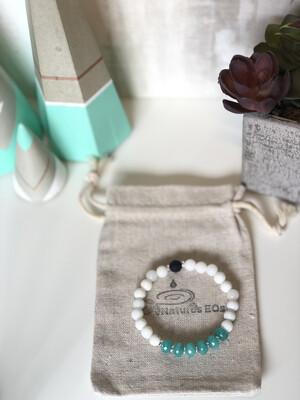 Amazonite & White Agate Aroma Bracelet