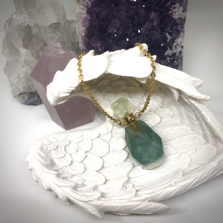 Green Fluorite Bottle Necklace