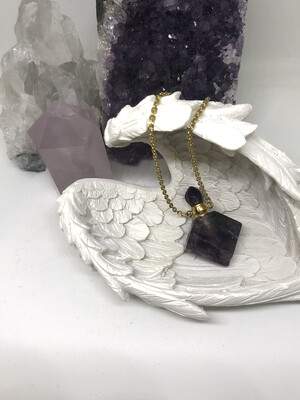 Rainbow Fluorite Bottle Necklace