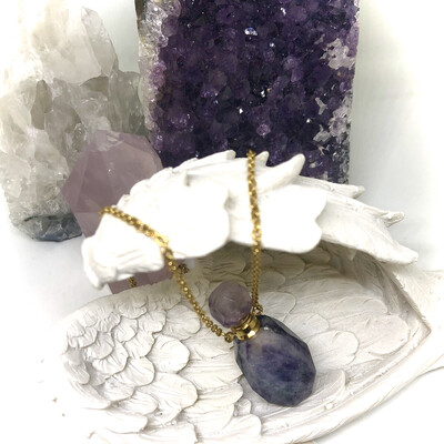 Fluorite Bottle Necklace