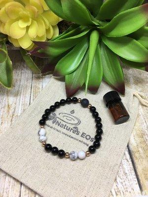 Black Onyx and Howlite Aroma Bracelet