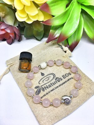 Rose Quartz Aroma Bracelet