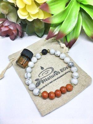 Howlite Redwood Aroma Bracelet