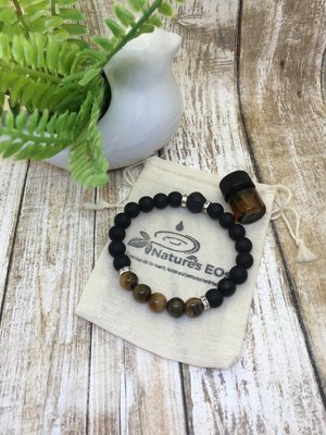 Black Onyx and Tiger Eye Aroma Bracelet
