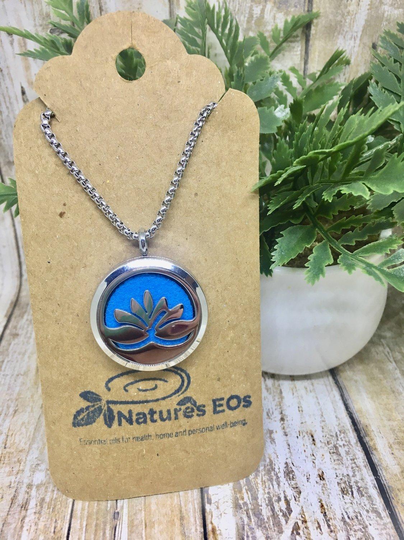 Lotus Aroma Locket Necklace