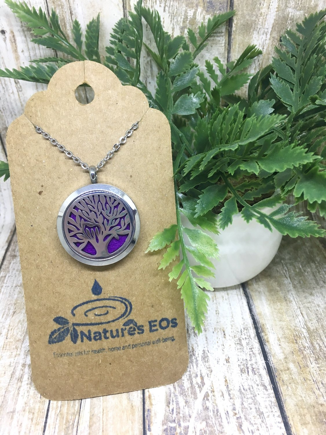 Family Tree Aroma Locket Necklace