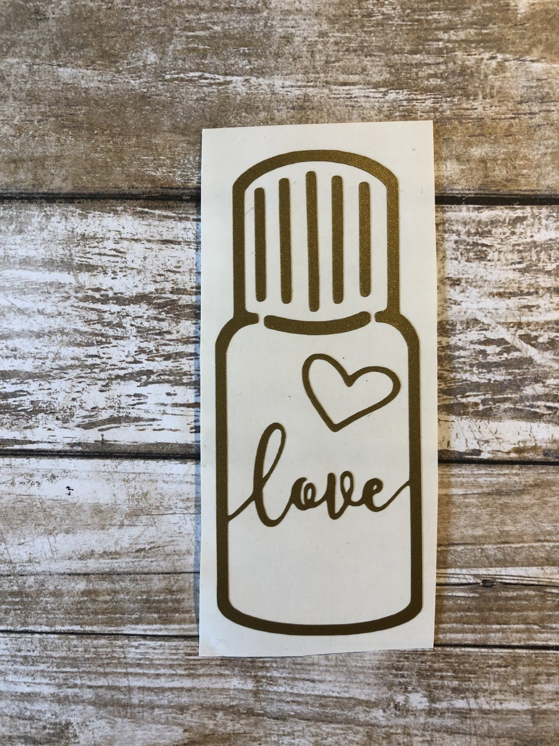 """LOVE"" Essential Oil Bottle Vinyl Decal"