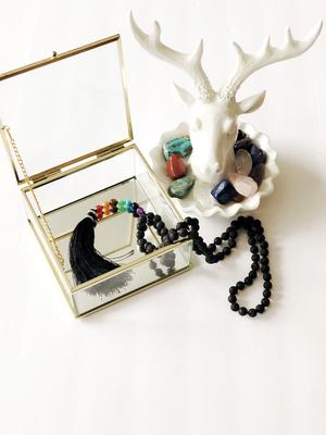 Chakra Mala with Lava Beads