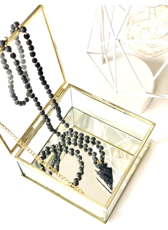 Lava Necklace and Bracelet Set