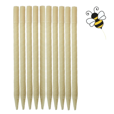 10pk 100% Beeswax Ear Candles