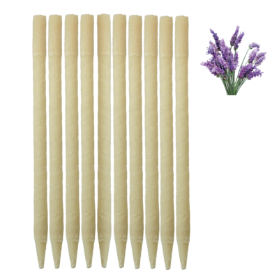 10pk Lavender Paraffin Ear Candles