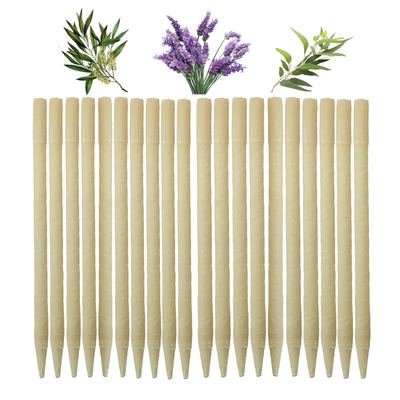 20pk Herbal Paraffin Ear Candles  (Infused w/Lavender, Eucalyptus, & Tea Tree Essential Oils)