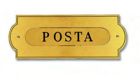 buca lettera ottone 4010