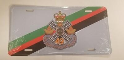 Licence Plate - Regimental