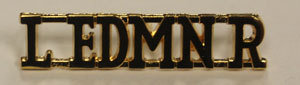Shoulder Title - Brass (Pair)