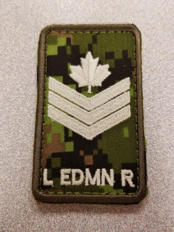 Sgt. Cad Pat Velcro Epaulet