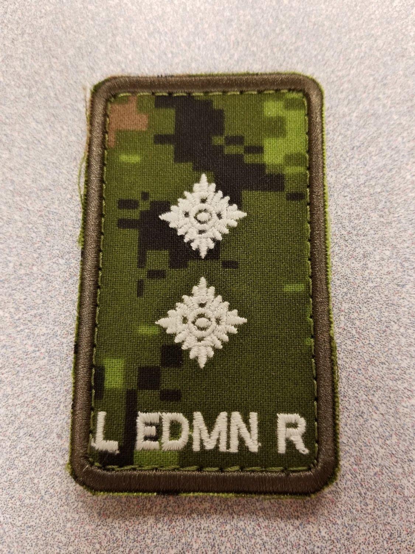 Lt. Cad Pat Velcro Epaulet