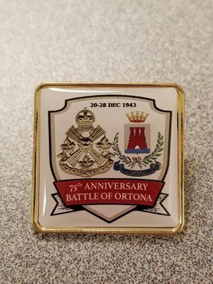 75th Anniversary Ortona Pin
