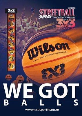 Minge de baschet Wilson FIBA 3X3 GAME
