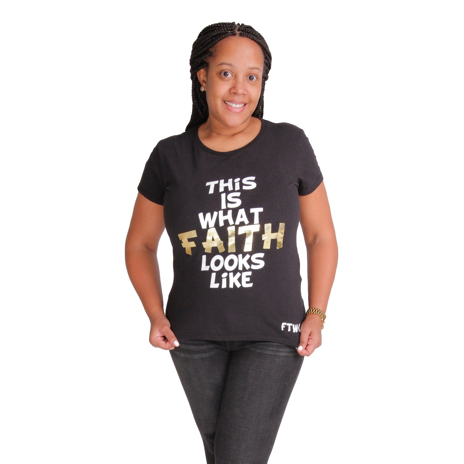 LIMITED EDITION Black Tshirt with Gold Letters
