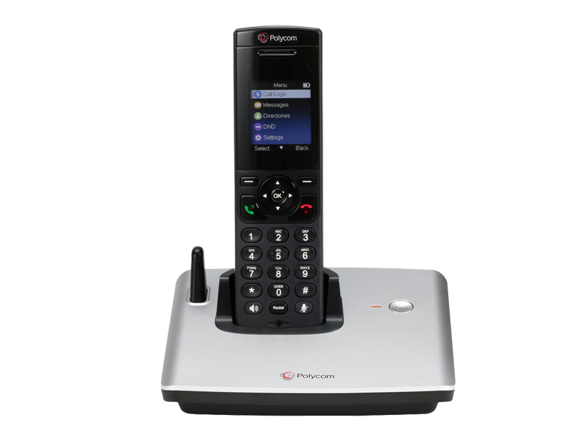 Polycom 2200-17821-001 VVX D60 Base Station with Wireless Handset and Power  Supply