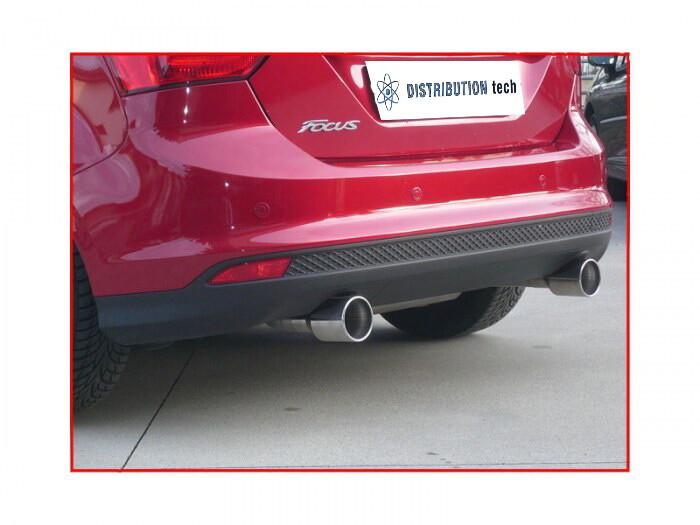 Terminale scarico posteriore sdoppiato Ragazzon per Ford Focus  1.6 Ecoboost (110 kw) 2011>2015 Omologazione CEE