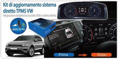 Kit monitoraggio diretto pressione pneumatici per   Volkswagen, Audi, Skoda