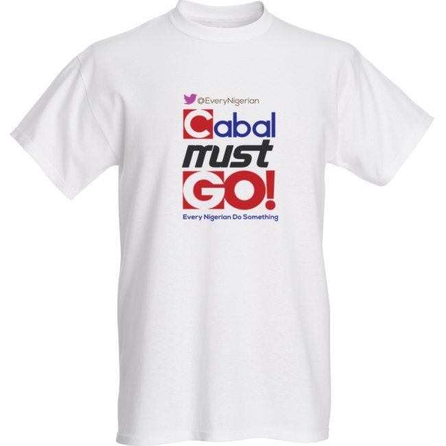 Cabal Must Go T-shirt Colored on White 00000