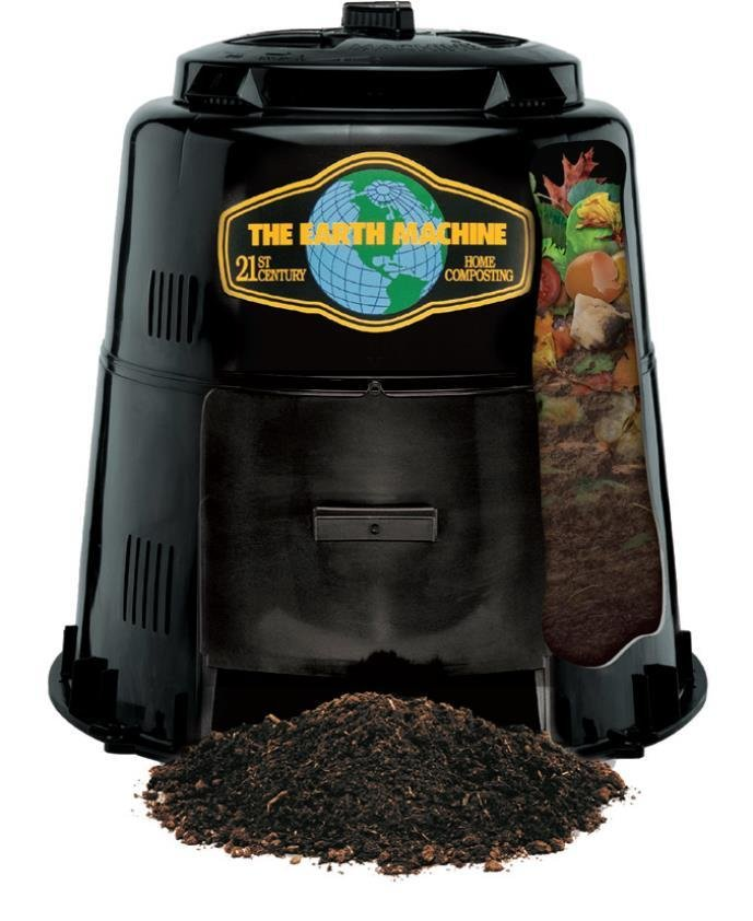 "Earth Machine Backyard Compost Bin - includes our exclusive ""Rottwheeler"" educational guide wheel."
