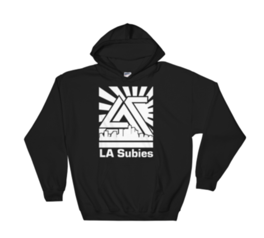 Kangaroo pouch hoodie for LA Subies