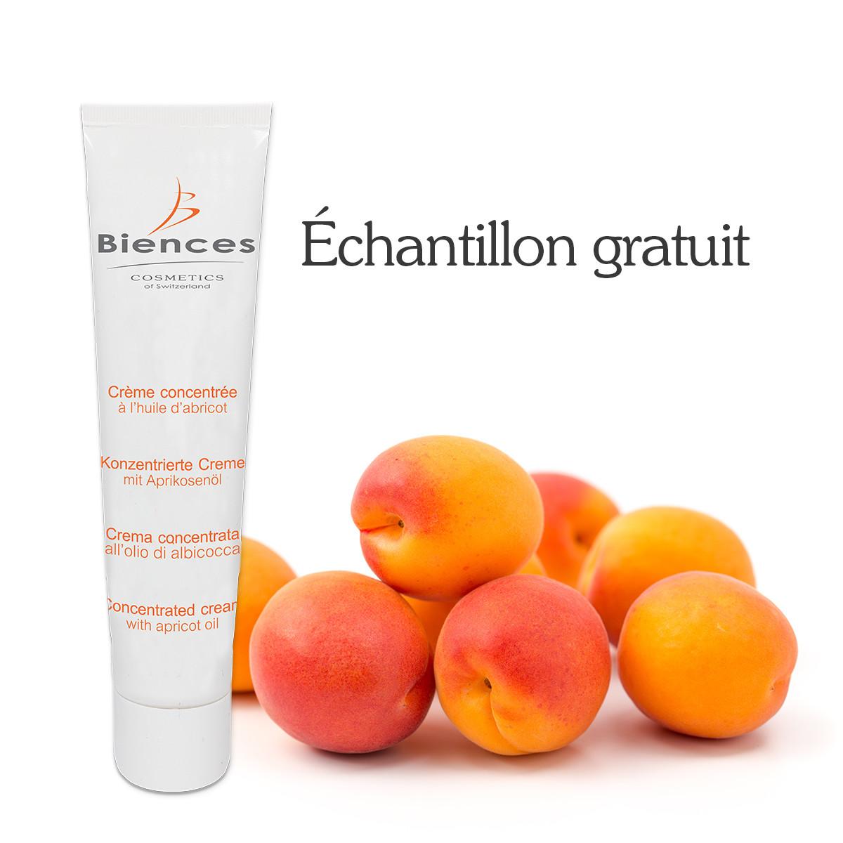 Crème concentrée à l'abricot - échantillon gratuit