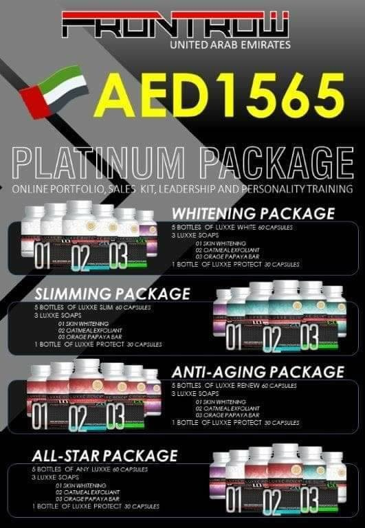 PATINUM PACKAGE (5 Bottles 60s + 3 Soaps)