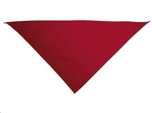 Foulard triangulaire 62/62/86 avec impression 1 couleur