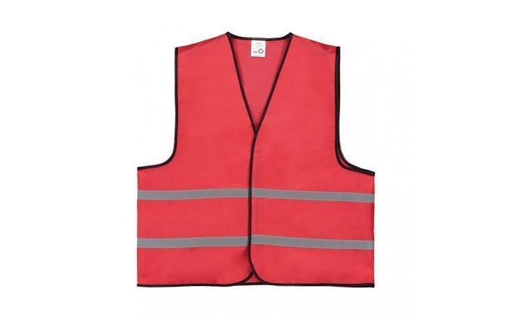 Veste sécurité rouge impression 1 couleur/1position