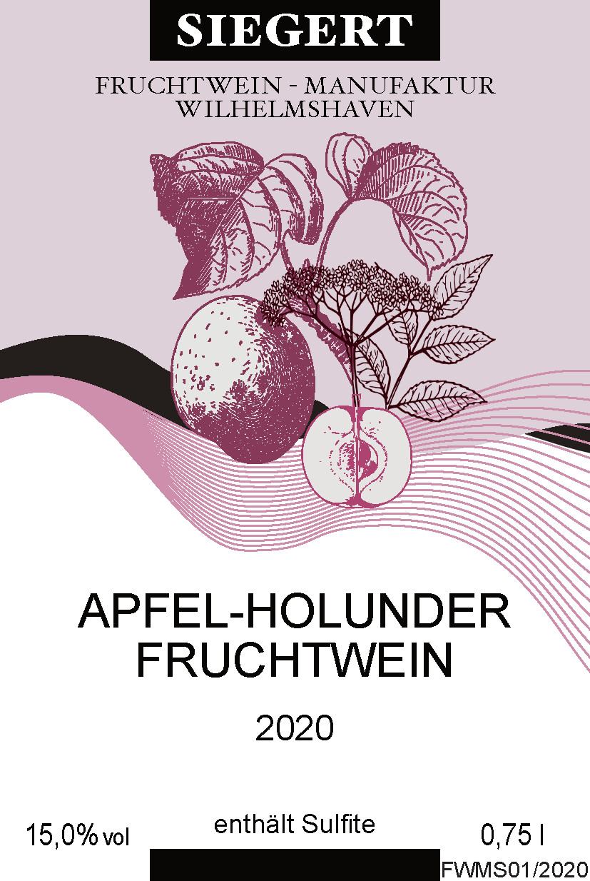 Apfel-Holunderblütenwein (0,75l - 15,0% vol.)