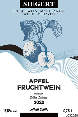 Apfelwein - Golden Delicious - 2020 (0,75l - 14,0% vol.)