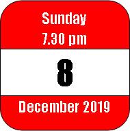Sunday 8 December 2019