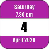 Saturday 4 April 2020