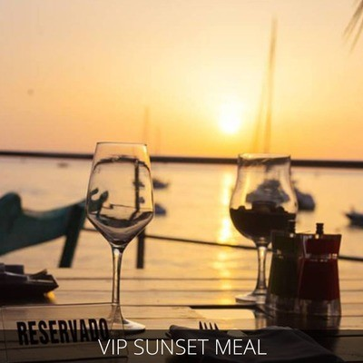 Ibiza VIP Sunset meal and male strip show package