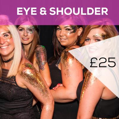 Glitter Eye & Shoulder £25