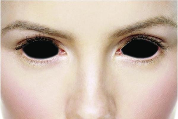 Black Scelera Full Eye Contacts