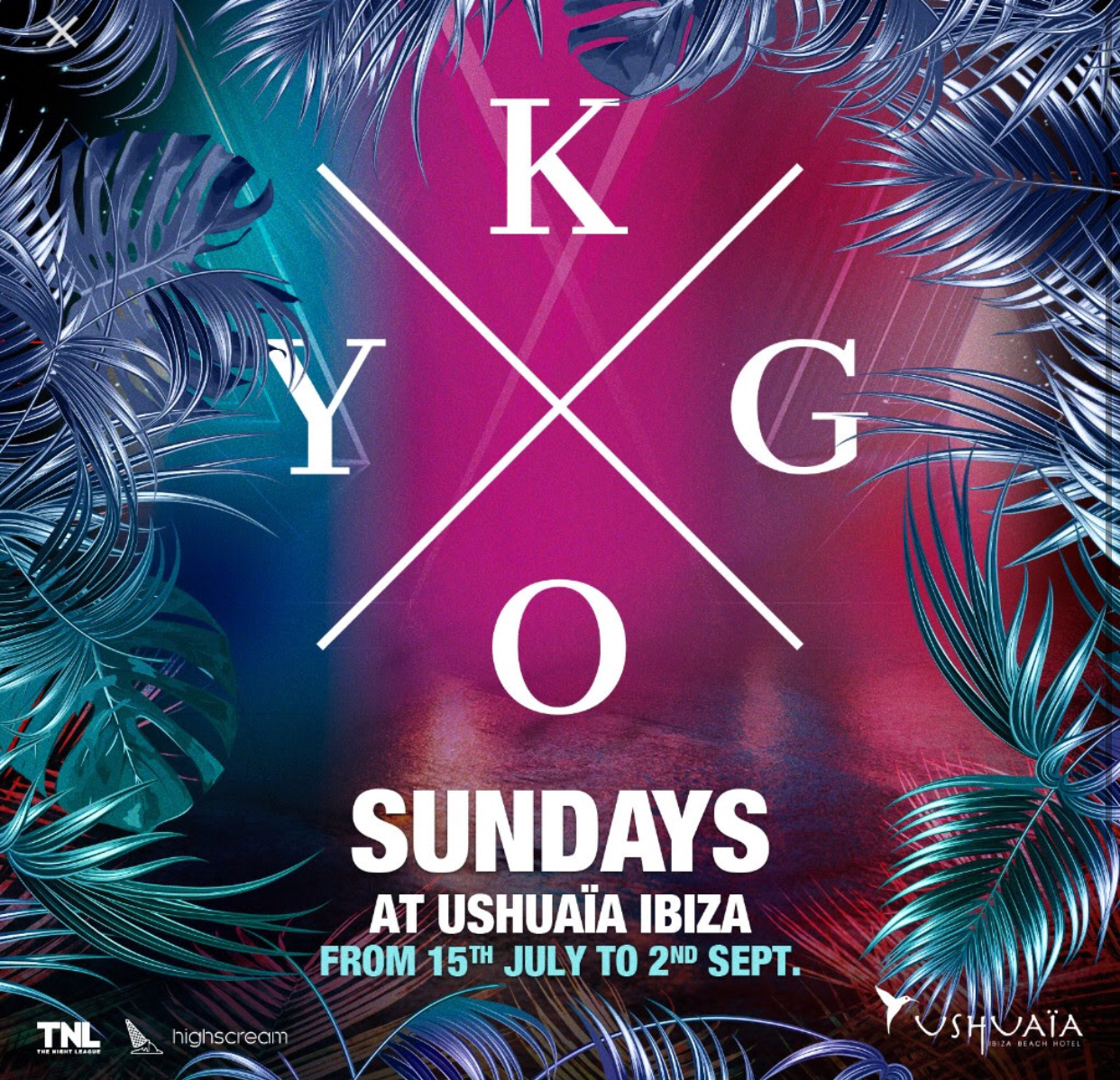 2hr open bar + Kygo @ Ushuia Ibiza package
