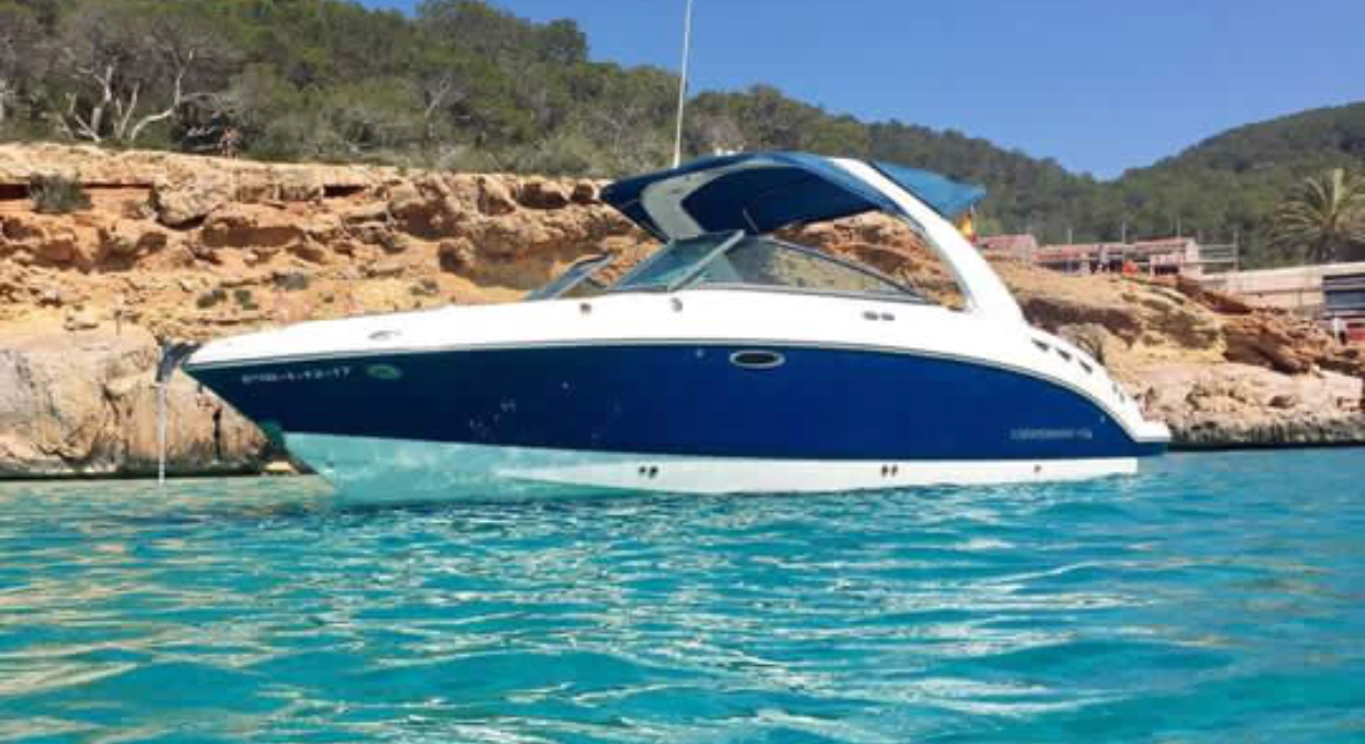 Private Ibiza boat charter deposit (9 + skipper) £599