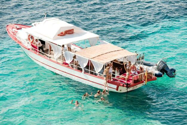 Ibiza boat activity private charter package £1,200