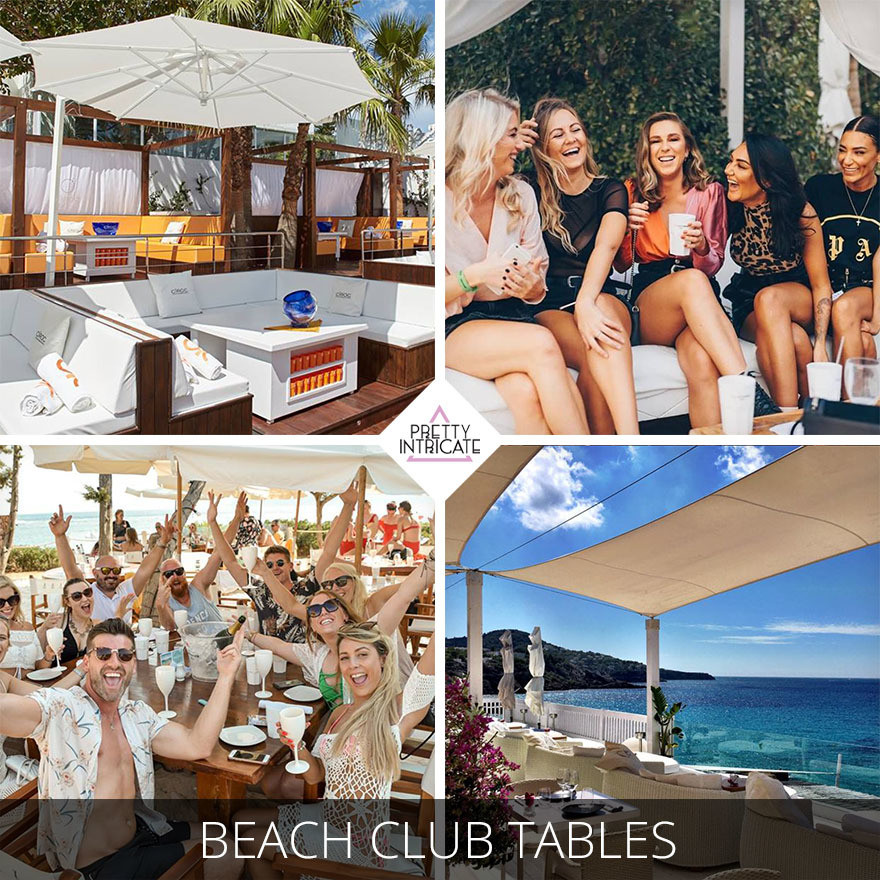 Ibiza Beach Club Tables