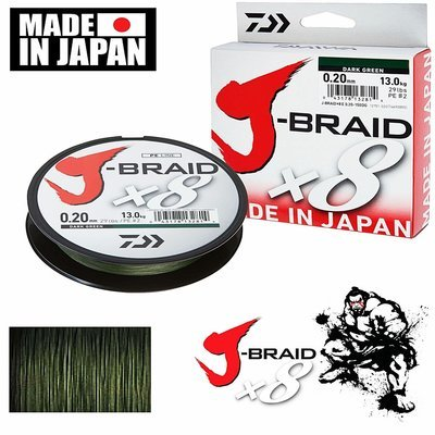 Filo J-Braid X8 150 Mt Dark Green - DAIWA
