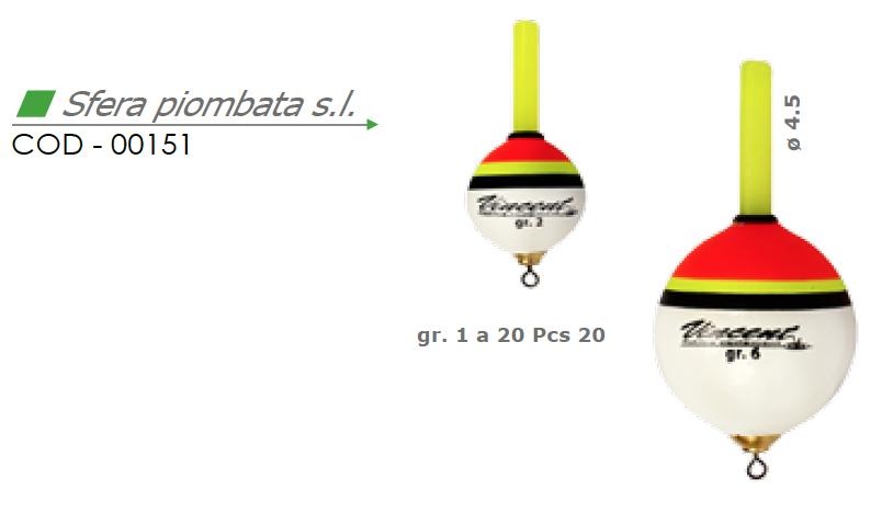 Galleggiante SFERA PIOMBATA s.l. - VINCENT 00151