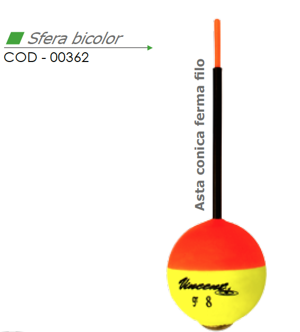 Galleggiante SFERA BICOLOR - VINCENT 00362