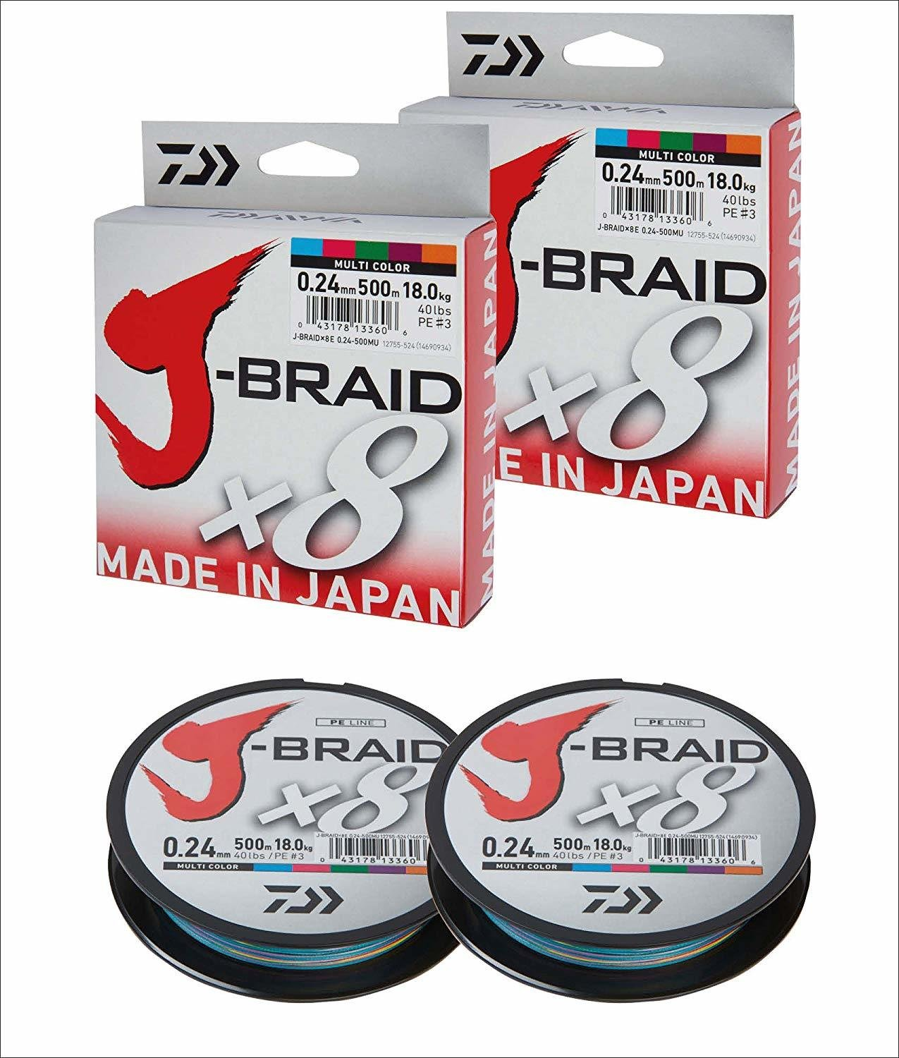 Filo J-Braid X8  - 500 Mt Multicolor - DAIWA