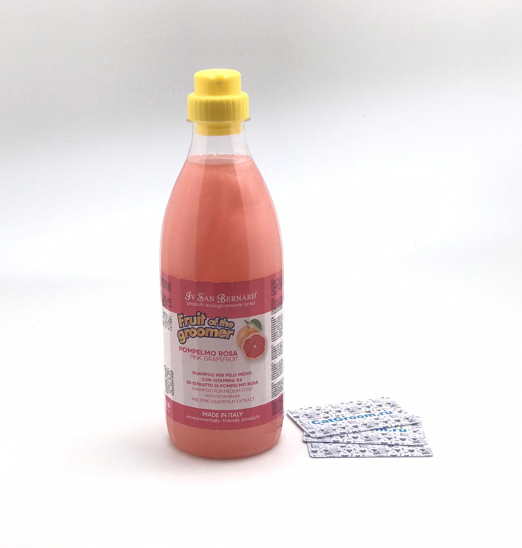 ISB Fruit of the Grommer Pink Grapefruit Шампунь для шерсти средней длины с витаминами 1 л